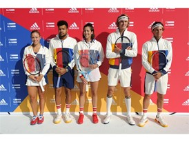 Tennis Athletes Garbi+¦e Muguruza, Angelique Kerber, Sascha Zverev, Dominic Thiem + Jo-Wilfried Tsonga