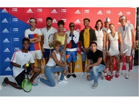 Kids with Pharrell Williams, Stan Smith, Garbiñe Muguruza, Angelique Kerber, Sascha Zverev, Dominic Thiem Jo-Wilfried 02
