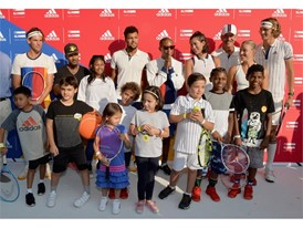 Kids with Pharrell Williams, Stan Smith, Garbiñe Muguruza, Angelique Kerber, Sascha Zverev, Dominic Thiem Jo-Wilfried 01