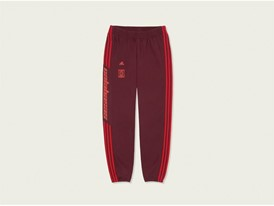 adidas YEEZY Trackpant Maroon Front PR