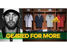 Dustin Johnson wearing a polo with climacool® technology