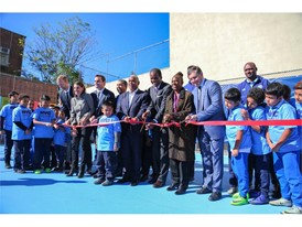 Ribbon Cutting Ceremony of the First 10 Soccer Fields as part of NYC Soccer Initiative