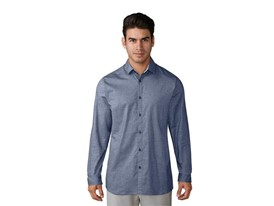 Stretch-woven Oxford noble indigo - Front