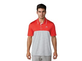 UP Heather blocked Polo red grey