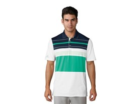 UP Engineered blocked Polo white aero green