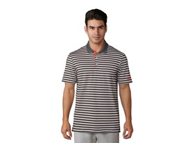 UP 3-color stripe Polo grey red