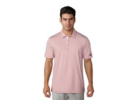 UP 2-color Stripe Polo red grey one