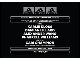 adidas announces Celebrity Panelists for #TLKS Discussion at 747 Warehouse Street in Los Angeles