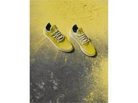 +H21254 adidas Originals PHARRELL WILLIAMS Hu Holi adicolor Key Visual Footwear Shot Yellow