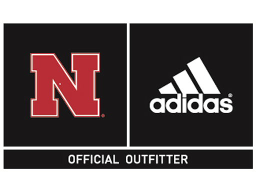 Nebraska and adidas Logo