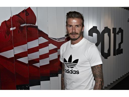 Beckham adidas trefoil image