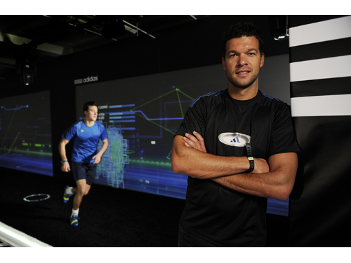 Michael Ballack at the adidas lab