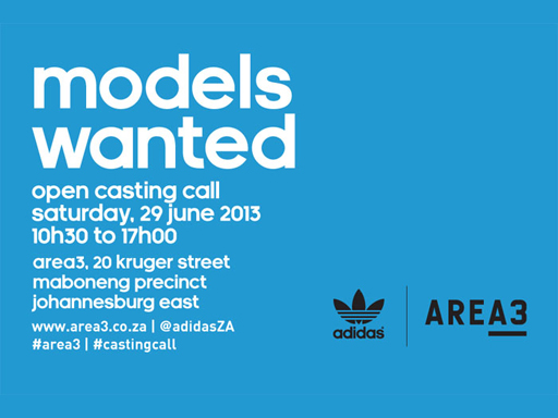adidas Originals AREA3 Casting Call on 29 June 2013
