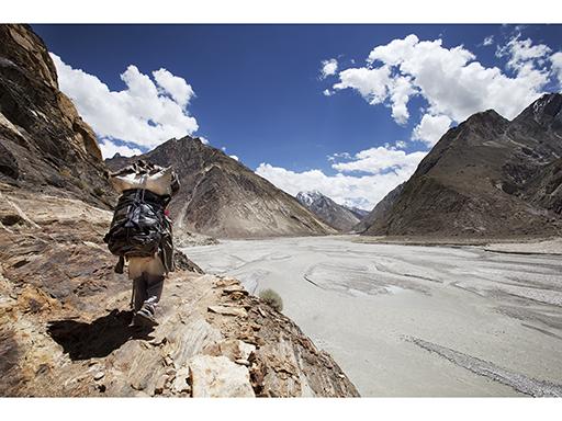 Approach to base camp, Karakorum, Pakistan