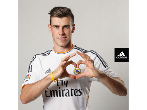 Gareth Bale in Madrid kit