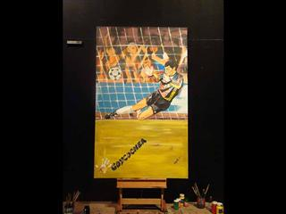 Own the moment: this painting of FIFA 2010 WORLD CUP ADIDAS GOLDEN GLOVES PAINTING JUNE 23 captures the spirit of the players and can be yours.