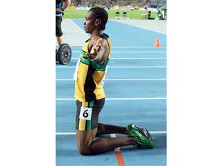 Yohan Blake becomes 100m World Champion in adizero Prime, the lightest sprint spike ever