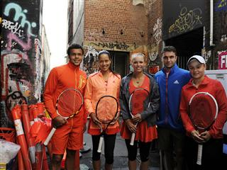 adidas Tennis Stars Take Over Melbourne Laneway For a Game of Tennis With a Difference