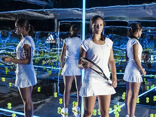 Caroline Wozniacki, Laura Robson and Maria Kirilenko launch the new adidas Stella McCartney barricade in Melbourne