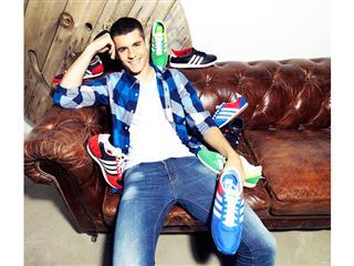 Álvaro Morata presenta la colección de calzado Primavera/Verano 2014