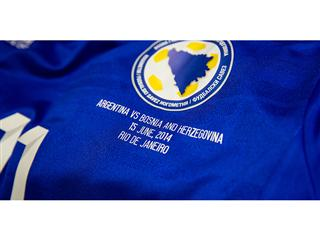 Bosnia shirt customization images ahead of the Argentina match