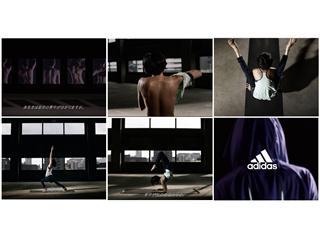 "adidas women's YOGA/FITNESS ""背中で、女を魅せる。"" コンセプトムービー7月31日(金)より公開"