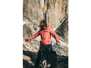 Mayan Smith-Gobat in front of Torres del Paine-photo credits Franz Walter/adidas Outdoor