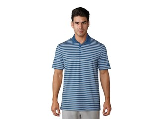 UP 3-color stripe Polo ash blue real gold