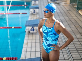 adidas x Parley unveil the latest swimming collection through the lens of Olympian Coralie Balmy