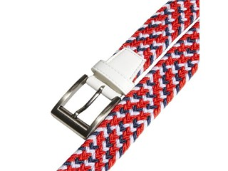 USA GOLF Collection Braided Weave Stretch Belt