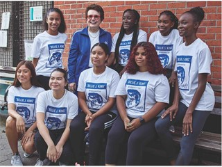 Billie Jean King and local NYC Young Athletes 1