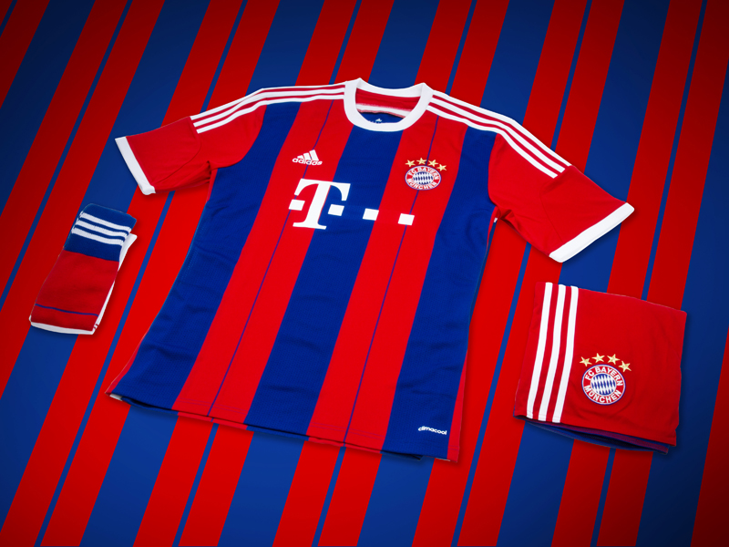 10c9cb055 thenewsmarket.com : adidas unveil new Bayern Munich 2014/2015 home-kit