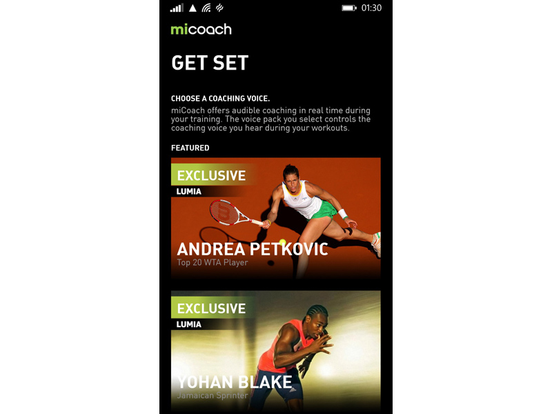 MiCoach Windows Phone 1