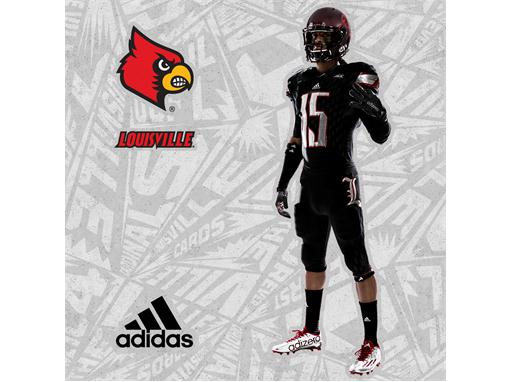 Louisville Black adidas Football 2