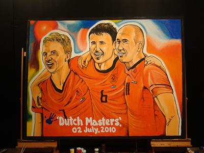 Own the moment: this painting of FIFA 2010 WORLD CUP ADIDAS DUTCH MASTERS JULY 2