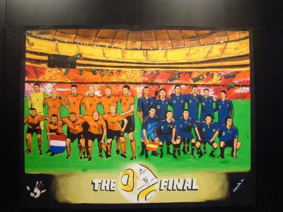 Own the moment: this painting of FIFA 2010 WORLD CUP ADIDAS THE FINAL JULY 9