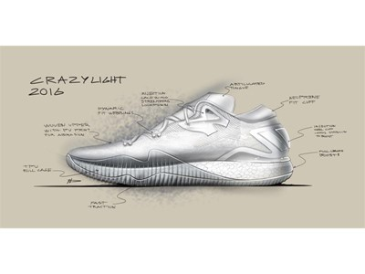 adidas Crazylight 2016 Design Sketch 2