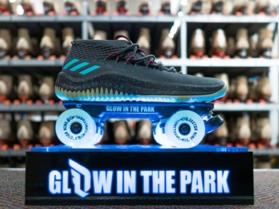 adidas & Damian Lillard Roll with Dame 4 Glow in the Park