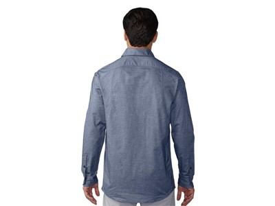 Stretch-woven Oxford noble indigo - Back