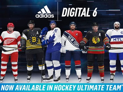 adidas   EA SPORTS™ Unveil All-New Digital 6 Jerseys for Hockey s Original  Six Teams in NHL® 19 3a552403504