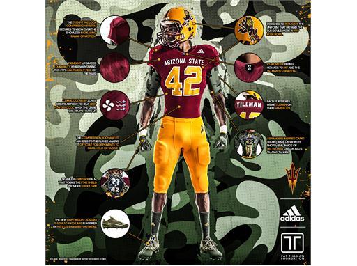 best website cd23e ae221 adidas NEWS STREAM : Arizona State, The Pat Tillman ...