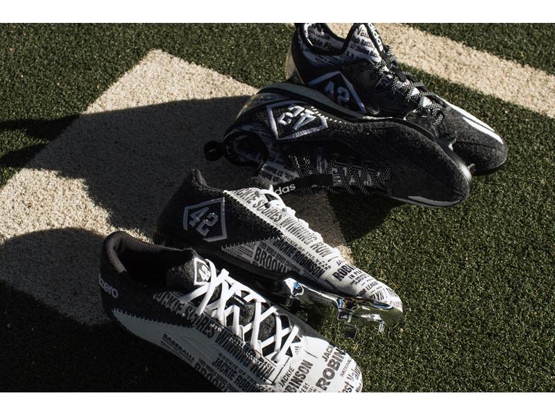 Jackie Robinson x adidas Cleats