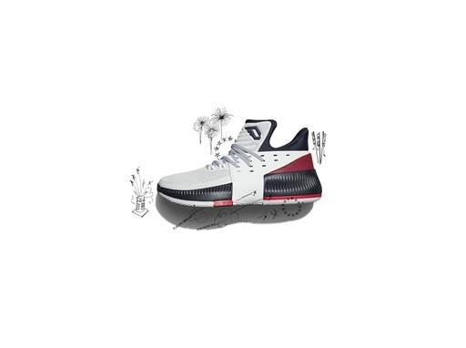 adidas Dame3 RedWhiteBlue  BY3762 V