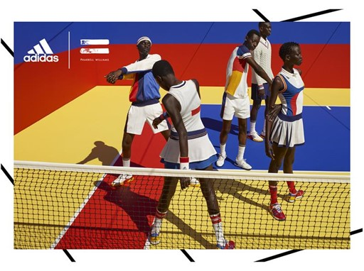 adidas Tennis Collection by PHARRELL WILLIAMS FW17 PR Hero Visuals Models Horizontal