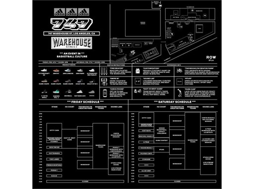 adidas 747 Warehouse St. Schedule & Details