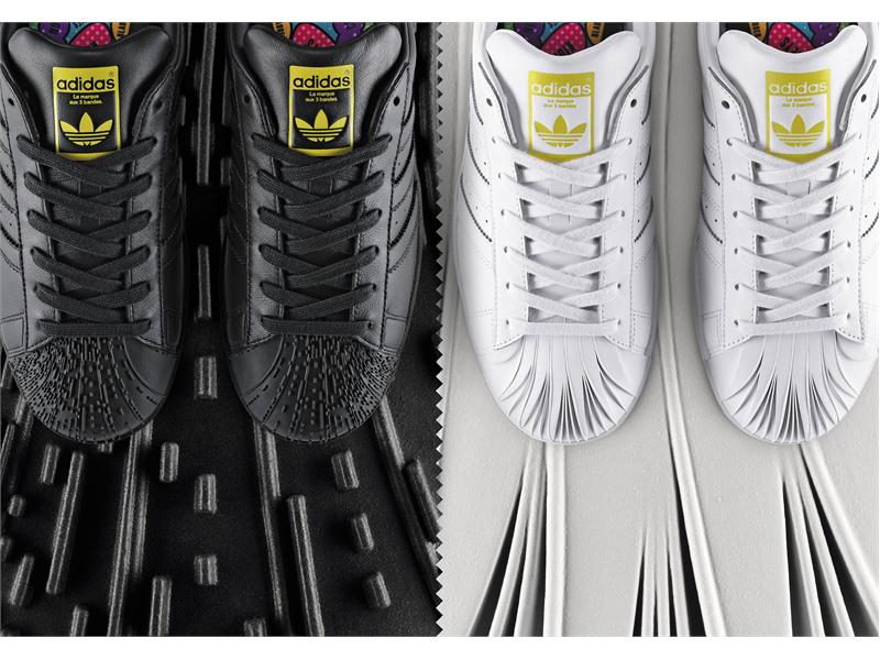 ad1820f11a36f adidas Originals by Pharrell Williams - Supershell - Artwork Zaha Hadid