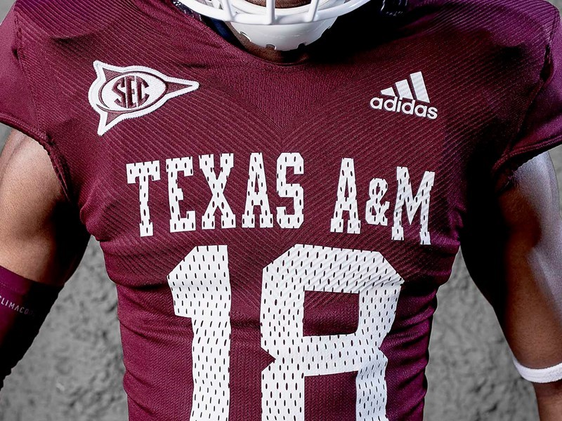 90a1885d4b6 Texas A M University and adidas Unveil Throwback Alternate Uniforms ...