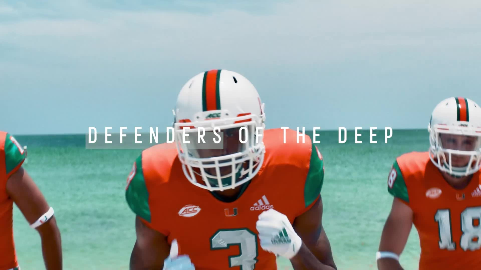 576d3ab4f11b University of Miami Football and adidas unveil special edition 2018 uniforms  featuring parley materials made from Upcycled marine plastic waste