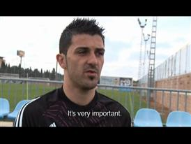 David Villa Interview without subtitles