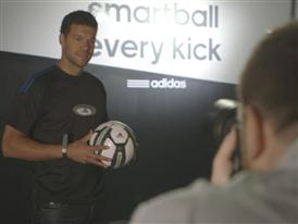 Michael Ballack at the adidas lab - General Views